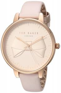 [テッド ベーカー]Ted Baker 'BROOK' Quartz Stainless Steel and Leather Casual TEC0185001