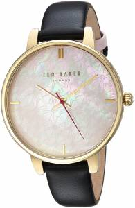 [テッド ベーカー]Ted Baker 'KATE' Quartz Stainless Steel and Leather Casual Watch, TEC0025009