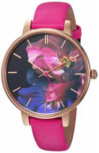 [テッド ベーカー]Ted Baker 'KATE' Quartz Stainless Steel and Leather Casual Watch, TEC0025014