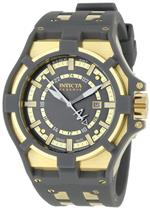 インヴィクタ 時計 Invicta Mens 0628 Reserve Collection Akula GMT Grey Dial Grey Polyurethane Watch<img class='new_mark_img2' src='//img.shop-pro.jp/img/new/icons9.gif' style='border:none;display:inline;margin:0px;padding:0px;width:auto;' />