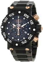 インヴィクタ 時計 Invicta Mens 0404 Subaqua Nitro Chronograph Black Textured Dial Watch