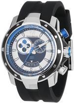 テクノマリーン 時計 TechnoMarine Mens 609027 UF6 Tide Black and Blue Dial Watch