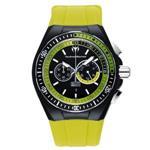 テクノマリーン 時計 TechnoMarine Mens 110019 Cruise Sport Chronograph Black  Green Dial Watch