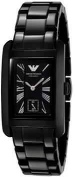 エンポリオアルマーニ 時計 Emporio Armani Womens AR1407 Black Ceramic Quartz Watch with Black Dial