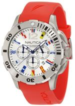 ノーティカ 時計 Nautica Mens N18639G Bfd 101 Dive Style Chrono Flag Watch