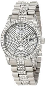 アクリボス 時計 Akribos XXIV Mens AK486SS Diamond Quartz Stainless Steel Bracelet Watch