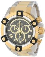 インヴィクタ 時計 Invicta Mens 0337 Arsenal Chronograph Black Dial Two Tone Stainless Steel Watch