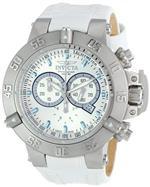 インヴィクタ 時計 Invicta Mens 10160 Subaqua Noma III Chronograph Silver Dial White Leather Watch