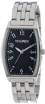 ハウレックス 時計 Haurex Italy Womens XA386DNN Ninfea Stainless Steel Tonneau Black Dial Bracelet