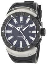 インヴィクタ 時計 Invicta Mens 0666 II Collection Sea Scavenger GMT Black Dial Black Polyurethane