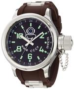 インヴィクタ 時計 Invicta Mens 1217 Russian Diver Brown Dial Brown Polyurethane Watch