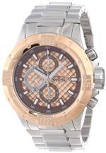インヴィクタ 時計 Invicta Mens 12373 Pro Diver Chronograph Rose Textured Dial Stainless Steel Watch