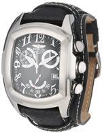 インヴィクタ 時計 Invicta Mens 11326 Lupah Chronograph Black Textured Dial Black Leather Watch