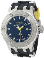 インヴィクタ 時計 Invicta Mens 10972 Subaqua Reserve GMT Black Dial Black Silicone Watch