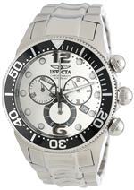 インヴィクタ 時計 Invicta Mens 14199 Lupah Chronograph Silver Dial Stainless Steel Watch