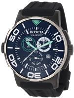 インヴィクタ 時計 Invicta Mens 1732 Reserve Reserve Chronograph Black Dial Black Polyurethane Watch