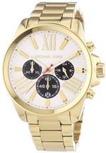 �ޥ����륳���� ���� Michael Kors MK5838 Wren Chrono Silver Dial Gold Band Women Watch NEW