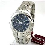 セイコー 時計 YEMA by Seiko of France Mens Silver-Tone Sport Quartz Chronograph Watch YM897