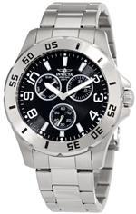 インヴィクタ 時計 Invicta Specialty Model Mens Quartz Watch with Black Dial Chronograph Display and