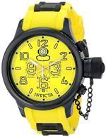 インヴィクタ 時計 Mens Invicta 11893 Russian Diver Swiss Chronograph Yellow Dial Yellow Polyurethane