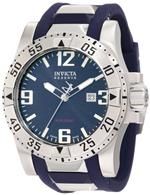 インヴィクタ 時計 Invicta Mens 6253 Reserve Blue Dial Blue Polyurethane Watch