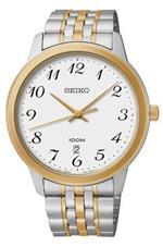 セイコー 時計 Seiko Mens SUR042 Two-Tone 100m Date Stainless Steel Watch