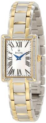 ブローバアキュトロン 時計 Bulova Womens 98R157 Two tone bracelet Watch
