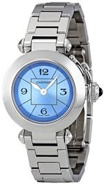 カルティエ 時計 Cartier Womens W3140024 Miss Pasha Blue Dial Watch