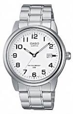カシオ 時計 Casio Mtp-1221A-7Bvef Gents Watch Quartz Analogue White Dial Silver Steel Strap