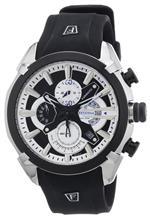 フェスティナ 時計 Festina Mens Quartz Watch with Black Dial Chronograph Display and Black Rubber