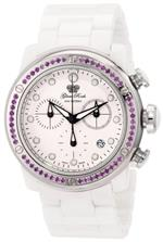 グラムロック 時計 Glam Rock Womens GR50127 Aqua Rock Chronograph White Dial Ceramic Watch