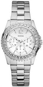 ゲス 時計 Guess Ladies Silver Chilly Crystal Watch 11052L1