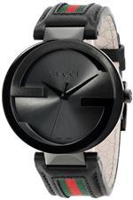 グッチ 時計 Gucci Mens YA133206 Interlocking Iconic Bezel Anthracite Dial Watch
