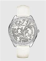 ゲス 時計 Guess Ladies White Leather Watch U90033L2