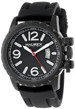 ハウレックスイタリア 時計 Haurex Italy Mens 3N502UNN Aeron Black Ion-Plated Coated Stainless Steel