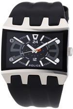アイス 時計 Police Mens PL-13420JS/02A Dimension Stainless Steel Rectangle Leather Watch