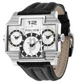 ポリス 時計 Police Mens PL-13088JS/04 Hammerhead Rectangular Silver Tri-Dial Leather Watch<img class='new_mark_img2' src='//img.shop-pro.jp/img/new/icons13.gif' style='border:none;display:inline;margin:0px;padding:0px;width:auto;' />