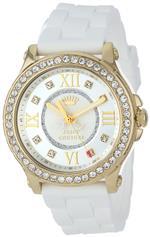 ジューシークチュール 時計 Juicy Couture Womens 1901053 Pedigree White Silicone Strap Watch