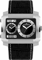 ジャックルマン 時計 Jacques Lemans Madrid 1-1708A mm Stainless Steel Case Leather Mineral Mens Watch