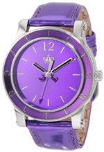 ジューシークチュール 時計 Juicy Couture Womens 1900840 HRH Purple Mirror-Metallic Leather Strap