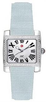 ミッシェル 時計 Michele Mini Ladies Watch - Light Blue Satin strap