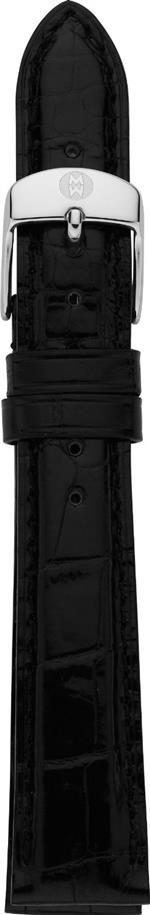 ミッシェル 時計 MICHELE MS16AA010001 16mm Leather Alligator Black Watch Strap
