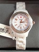 ミッシェル 時計 Michele White Ceramic Diamond Mini Jetway Watch MWW17E000001