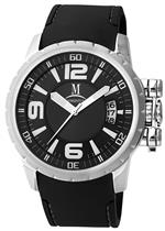 モメンタス 時計 Momentus Stainless Steel with Black Rubber Band amp Dial Mens Watch FS108S-04RS