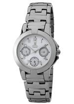 モメンタス 時計 Momentus Silver Stainless Steel White Dial Chronograph Womens Watch TC109S-09SS