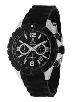 モメンタス 時計 Momentus Stainless Steel Black Rubber Dial Chrono Sport Mens Watch FS281S-04RE