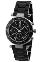 モメンタス 時計 Momentus Stainless Steel Ceramic Black Chronograph Womens Watch TC123C-04CS