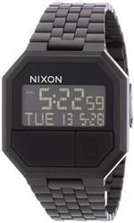 ニクソン 時計 Nixon Re-Run Black Dial Stainless Steel Mens Watch A158001-00