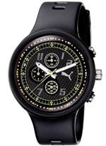プーマ 時計 PUMA Mens PU910401004 Slick Chronograph Black and Yellow Accented Dial Watch<img class='new_mark_img2' src='//img.shop-pro.jp/img/new/icons16.gif' style='border:none;display:inline;margin:0px;padding:0px;width:auto;' />