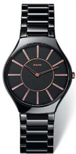 <img class='new_mark_img1' src='//img.shop-pro.jp/img/new/icons22.gif' style='border:none;display:inline;margin:0px;padding:0px;width:auto;' />ラド 時計 Rado True Thinline Black Ceramic Ladies Watch R27741702
